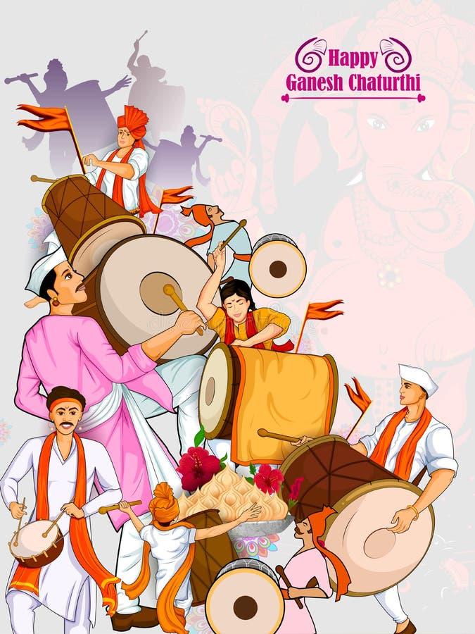 Free Lord Ganpati For Happy Ganesh Chaturthi Festival Celebration Of India Stock Photography - 97997372