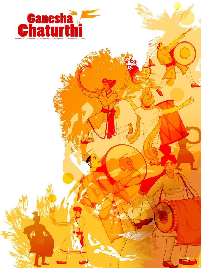 Free Lord Ganpati For Happy Ganesh Chaturthi Festival Celebration Of India Stock Photos - 97998133