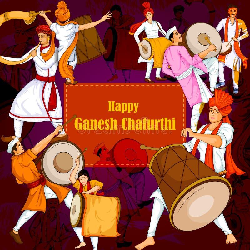 Free Lord Ganpati For Happy Ganesh Chaturthi Festival Celebration Of India Stock Image - 97998601
