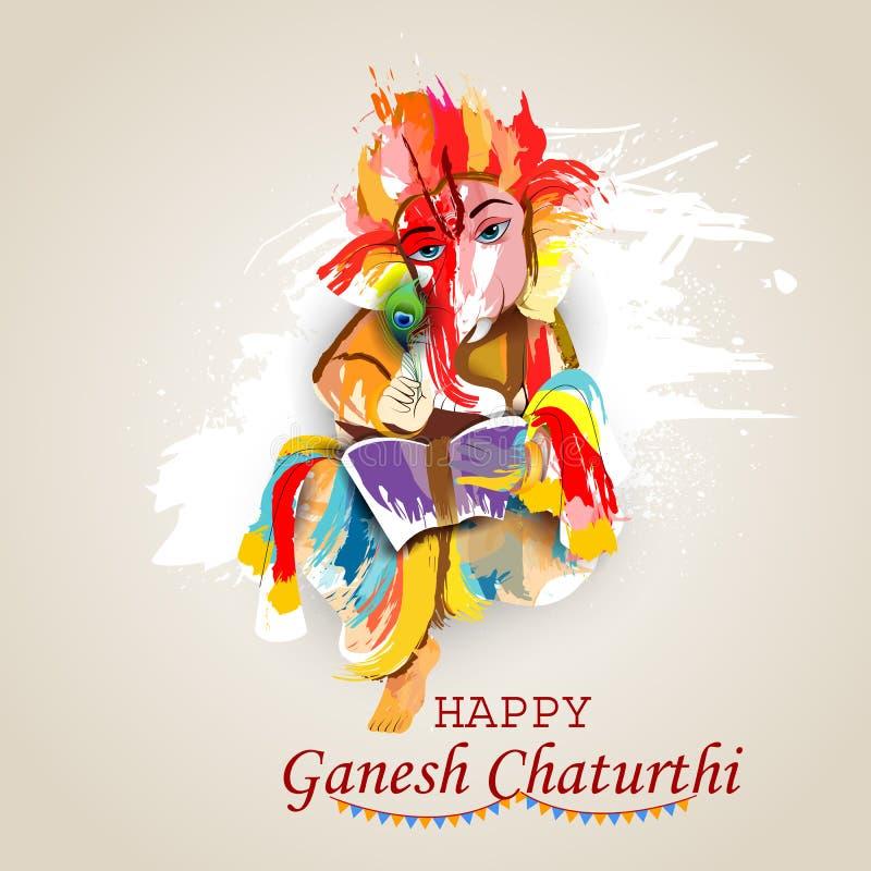 Free Lord Ganpati On Ganesh Chaturthi Background Stock Photo - 97929850