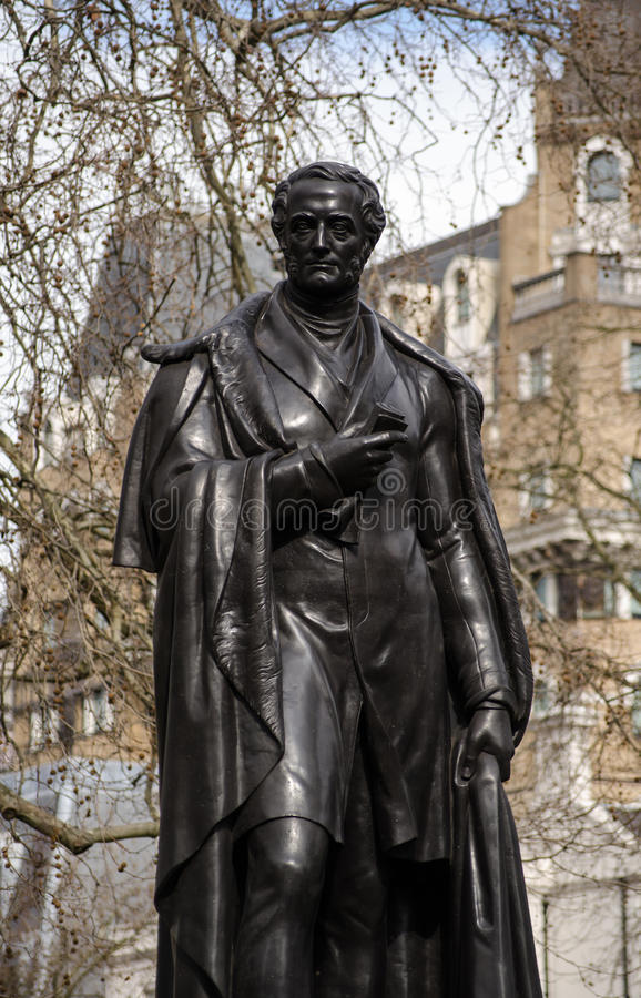 Download Lord George Bentinck Statue Stock Image - Image: 33711807