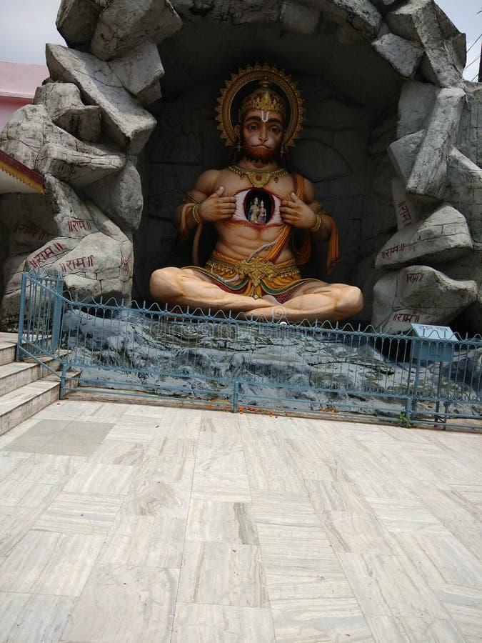 Lord Hanuman em Haridwar imagens de stock