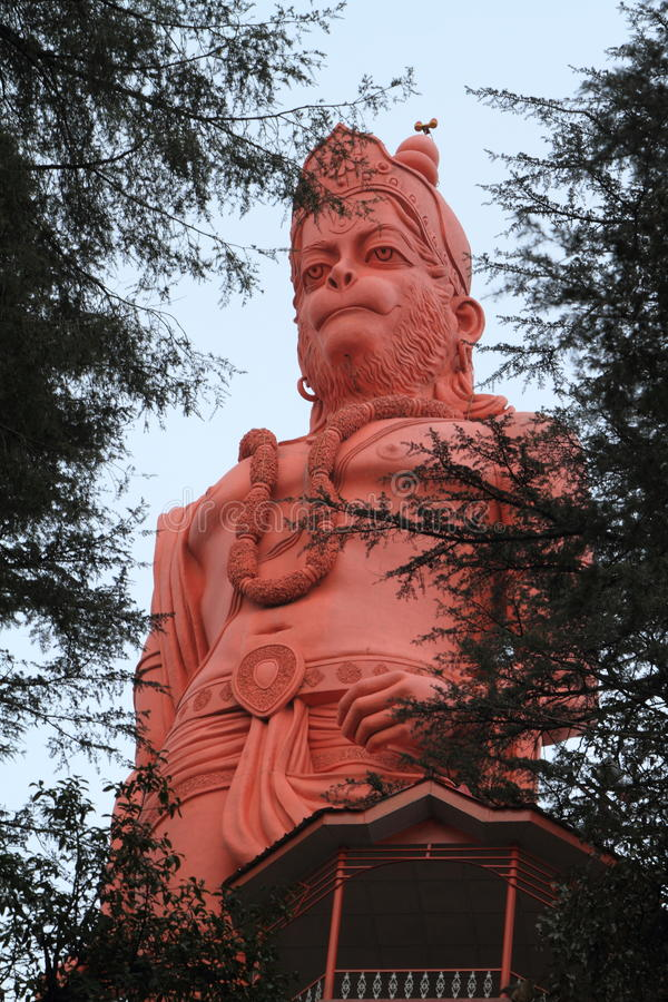 Lord Hanuman-tempel van shimla in India stock afbeeldingen