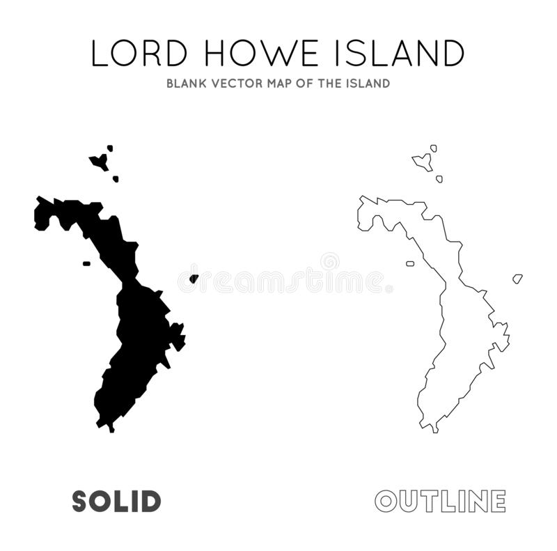 Lord Howe Island ?versikt royaltyfri illustrationer