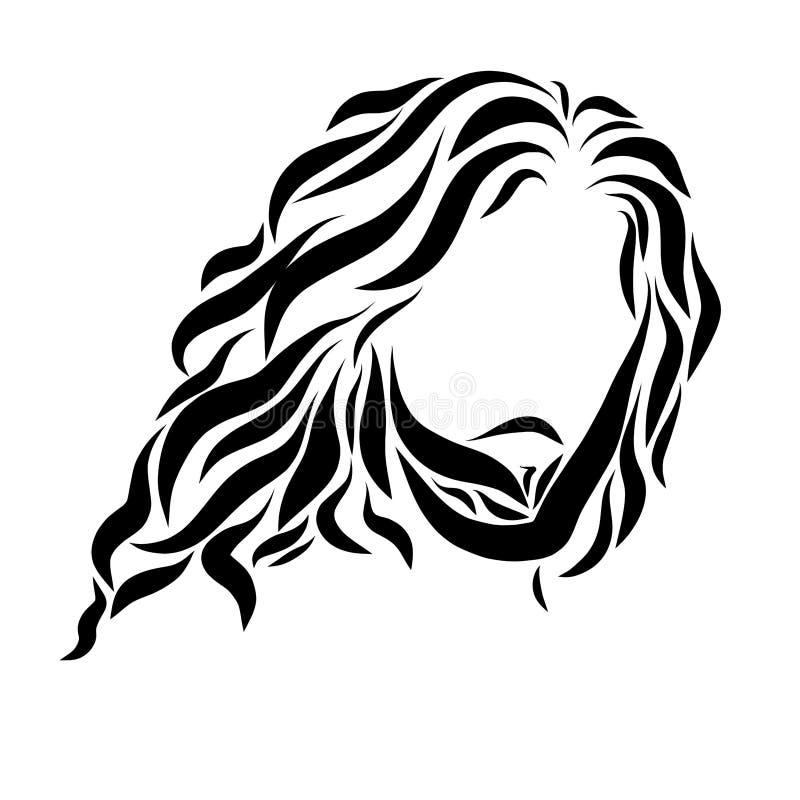 Lord Jesus, dibujando en líneas negras lisas libre illustration