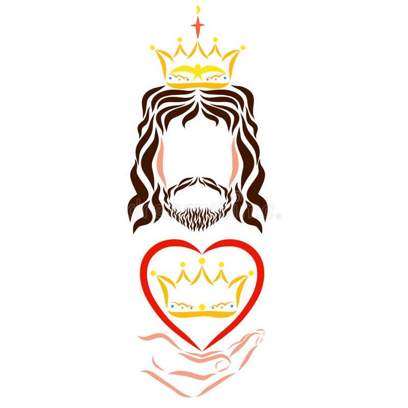 Lord Jesus reinante da a creyentes el reino del tirón libre illustration