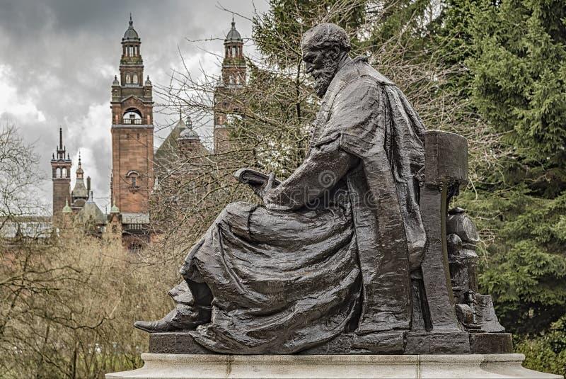 Lord Kelvin Statue immagine stock