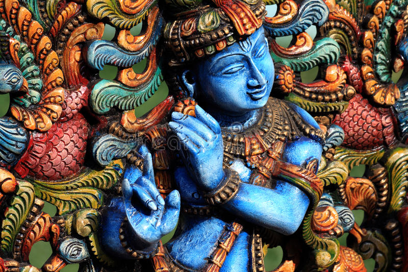Download Lord Krishna stock photo. Image of sculpture, vishnu - 14568200