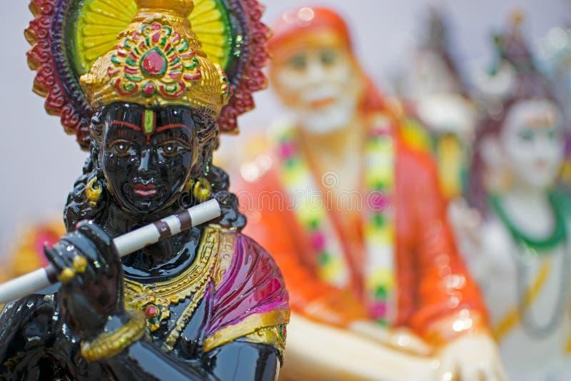 Lord Krishna, ambachtspunten op vertoning, Kolkata royalty-vrije stock afbeeldingen