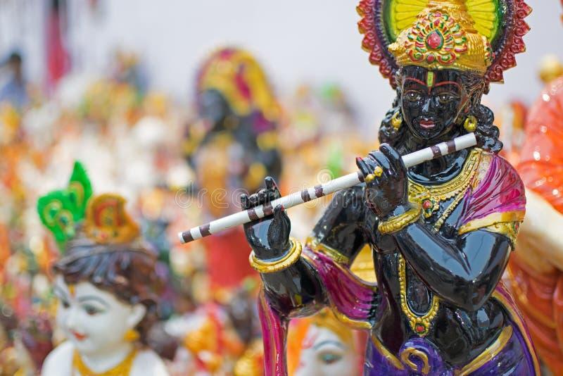 Lord Krishna, ambachtspunten op vertoning, Kolkata stock fotografie