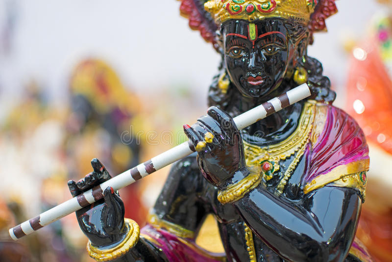 Lord Krishna, ambachtspunten op vertoning, Kolkata royalty-vrije stock fotografie