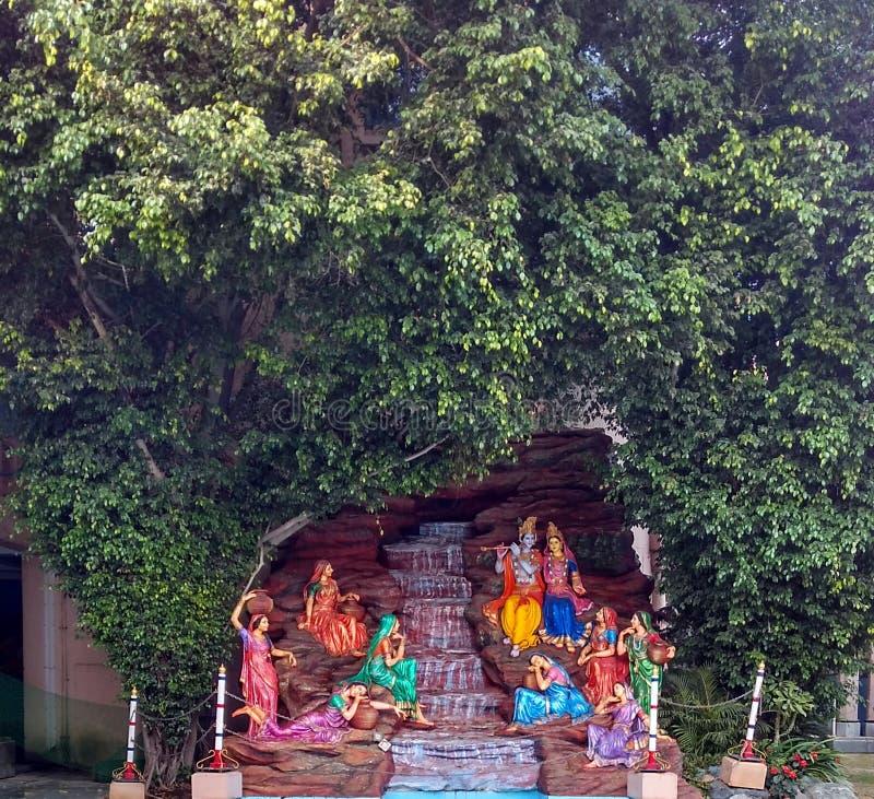 Lord Krishna en Radha stock afbeelding