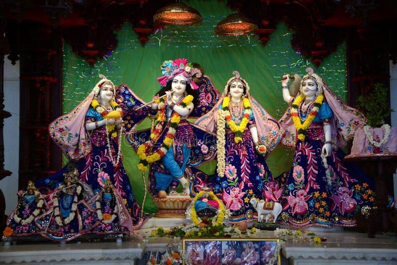 Lord Krishna en Radha stock afbeeldingen