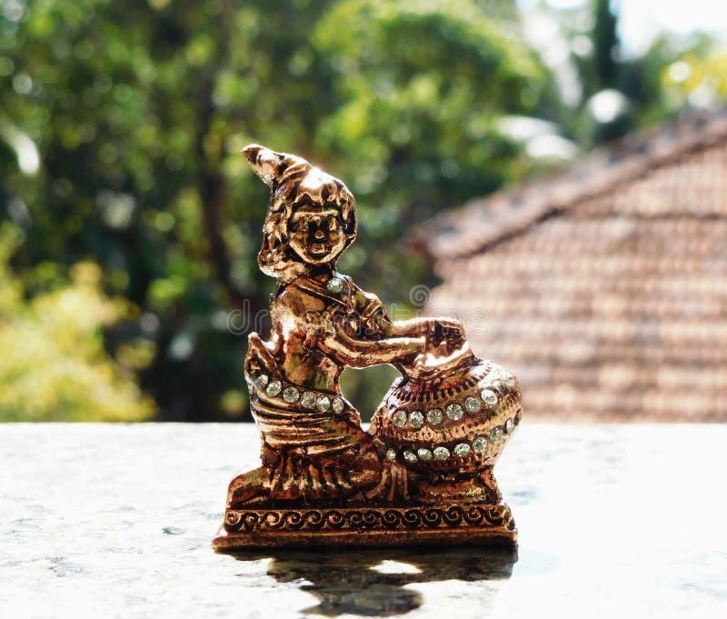 Lord krishna Idol lizenzfreie stockfotos