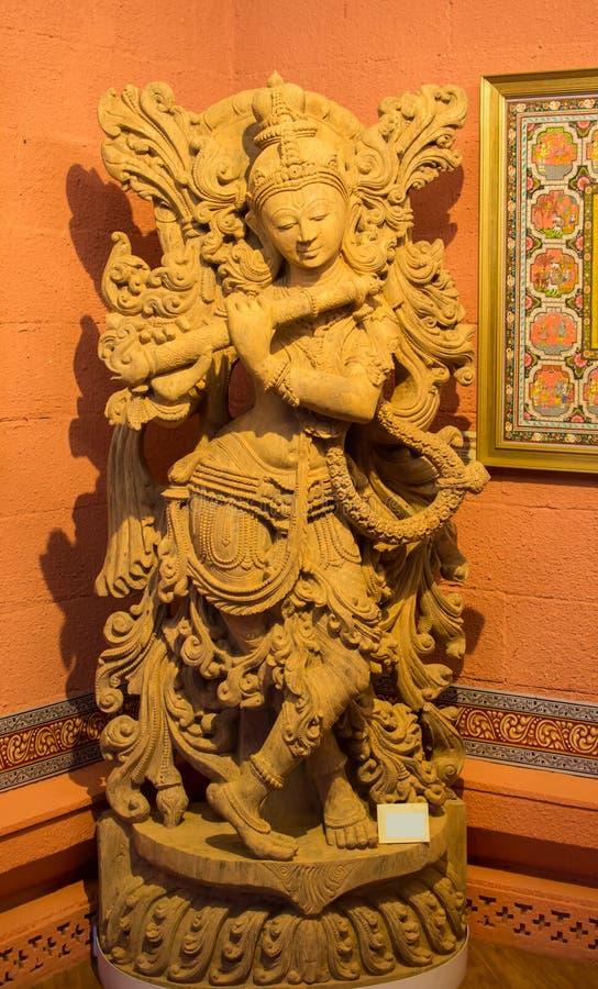 Lord Krishna Idol Playing Flute image libre de droits