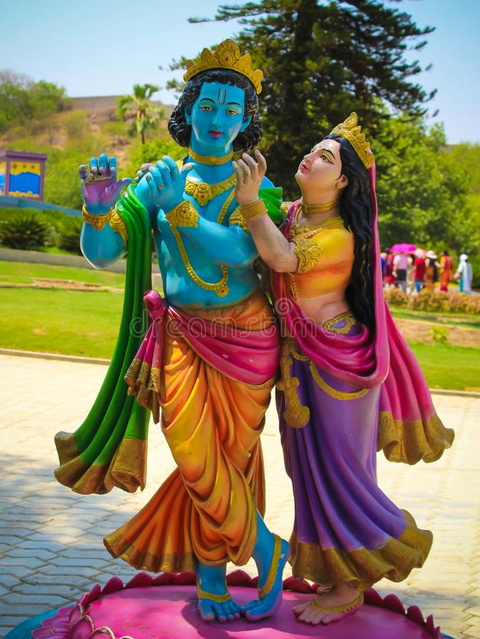 lord krishna radha colorful statue lord krishna radha colorful statue ramoji film city amuesement parak hyderabad 135829029