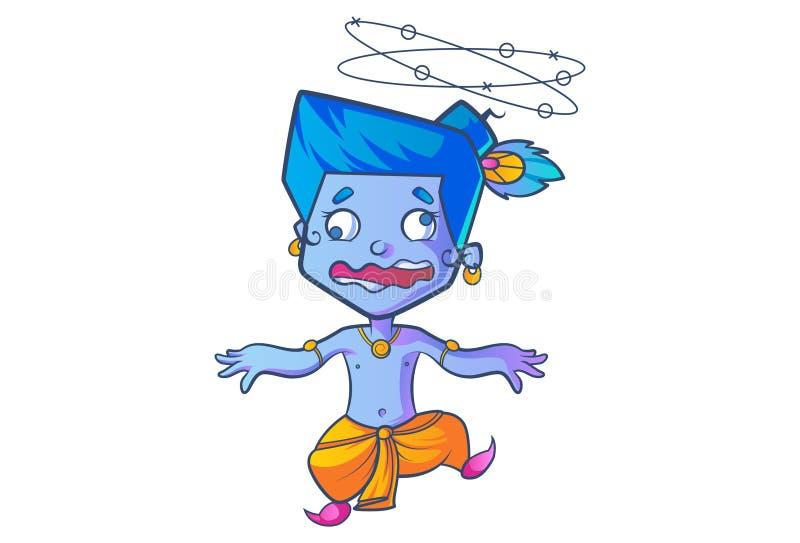 Lord Krishna sveglio illustrazione vettoriale
