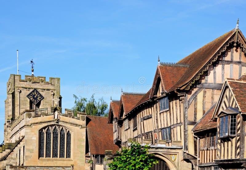 Lord Leyster Hospital e capela, Warwick foto de stock