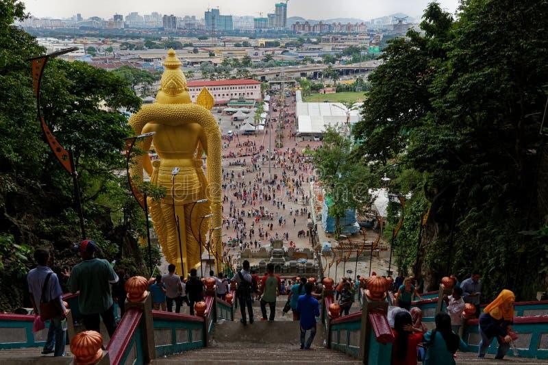 Lord Murugan Statue, Batu-holen, Kuala Lumpur, Maleisi? royalty-vrije stock foto