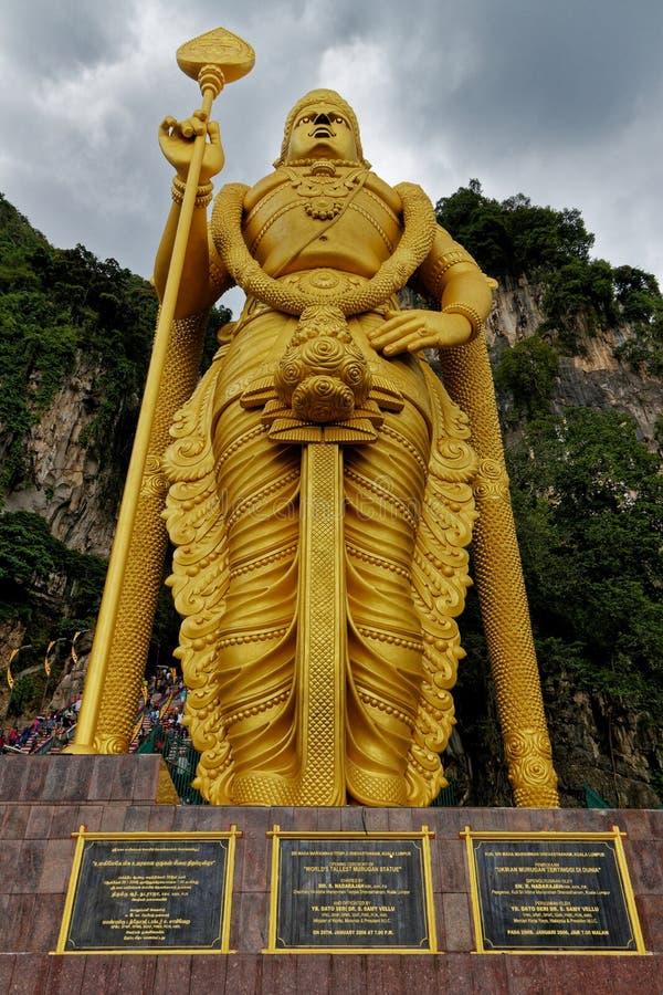 Lord Murugan Statue, caverne di Batu, Kuala Lumpur, Malesia fotografia stock libera da diritti