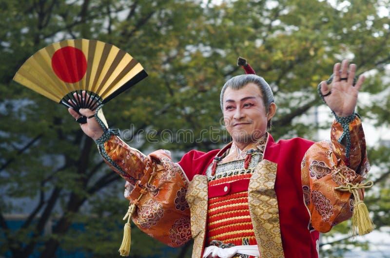 Lord at Nagoya Festival, Japan. Feudal Lord Toyotomi Hideyoshi in parade at 62nd Nagoya Matsuri Festival, Japan stock photos