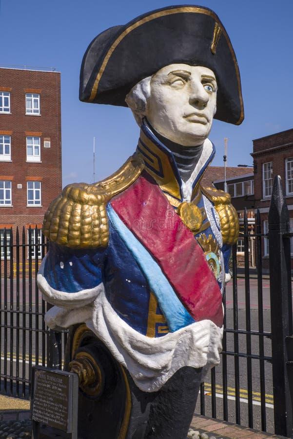 Lord Nelson Monument i Portsmouth royaltyfri foto