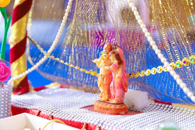 Lord Radha-krishna stockfotografie