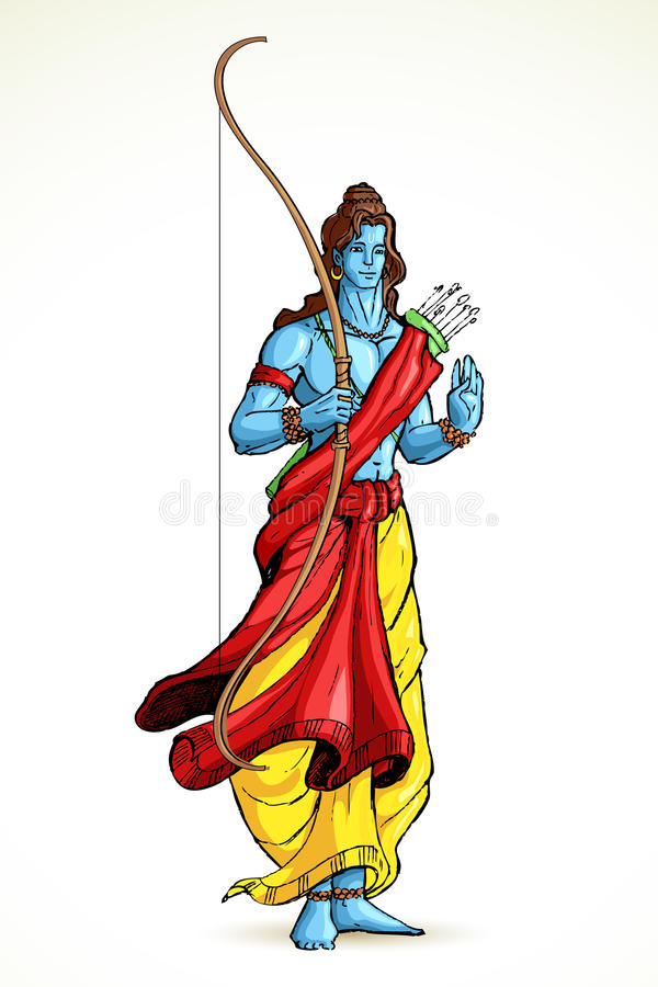 Lord Rama vektor illustrationer