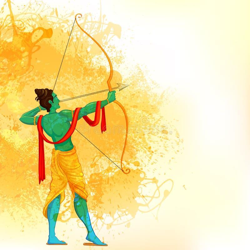 Lord Rama com curva e seta ilustração do vetor