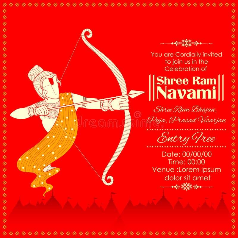 Lord Rama con la flecha del arco que mata a Ravana en Ram Navami libre illustration