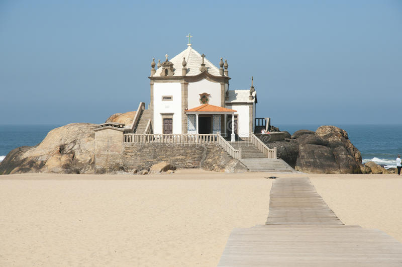 Lord of the Rock Chapel - Portugal stock photo