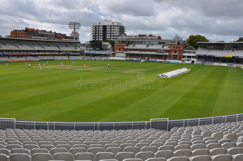 Lord's Cricket Ground in London stock photo
