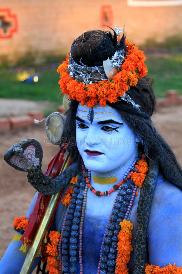 Download Lord shiva editorial stock photo. Image of dress, flowers - 21640903