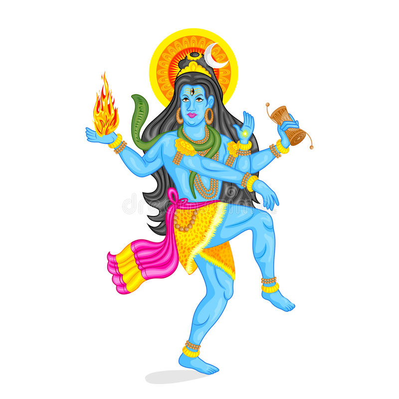 Lord Shiva royaltyfri illustrationer