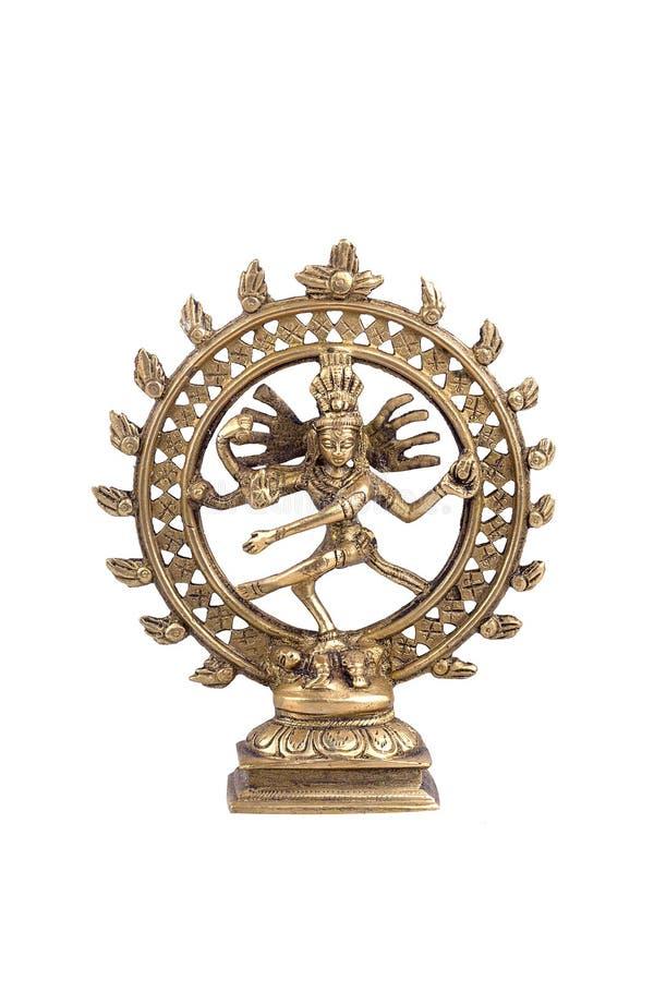 Lord Shiva auf einem weißen Hintergrund lizenzfreie stockbilder