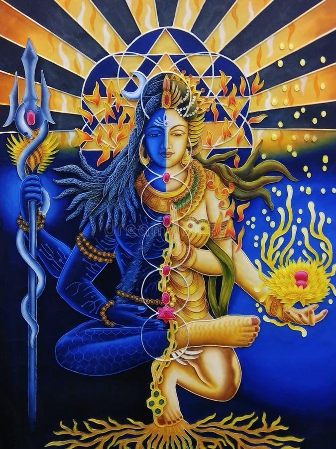 Lord Shiva e Parvati ilustração royalty free