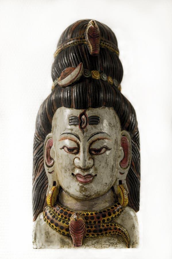 Lord Shiva, een traditioneel Nepalees masker stock foto