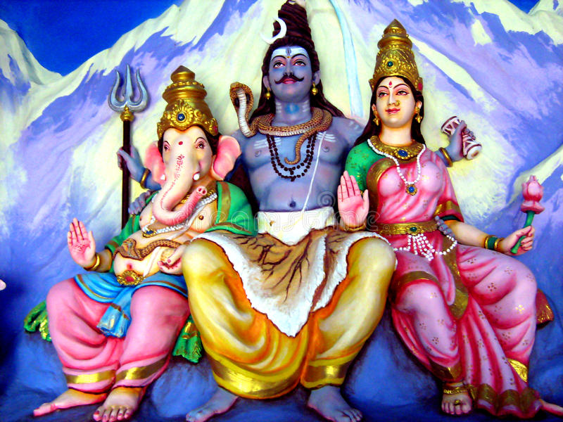 Lord Shiva Family royalty-vrije stock afbeeldingen