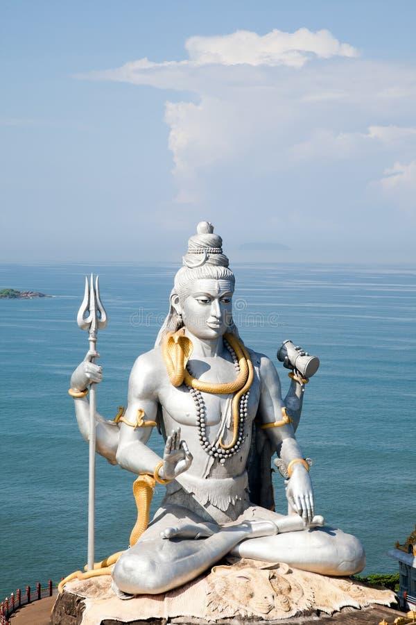 Lord Shiva idol. Huge idol of Lord Shiva, in the Hindu temple in Murudeshwar, Karnataka India stock photo