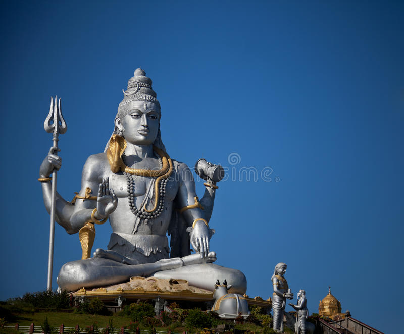 Lord Shiva idol. Huge idol of Lord Shiva, in the Hindu temple in Murudeshwar, Karnataka India stock photography