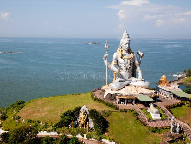 Lord Shiva idol. Huge idol of Lord Shiva, in the Hindu temple in Murudeshwar, Karnataka India stock image