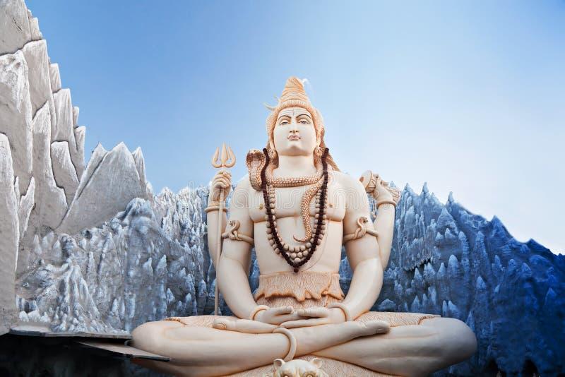Lord Shiva Statue lizenzfreie stockfotos