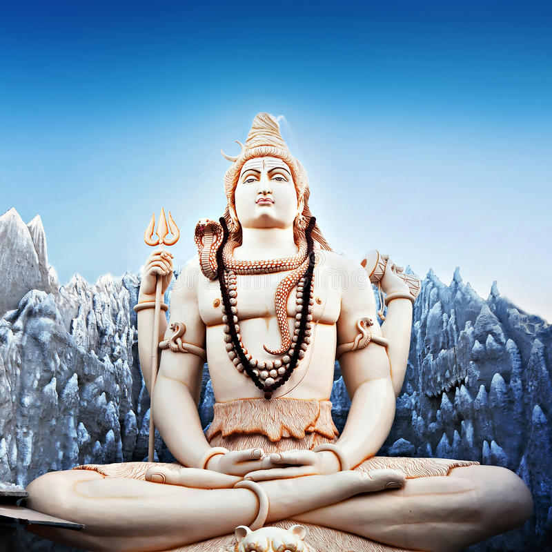 Lord Shiva Statue royalty-vrije stock foto