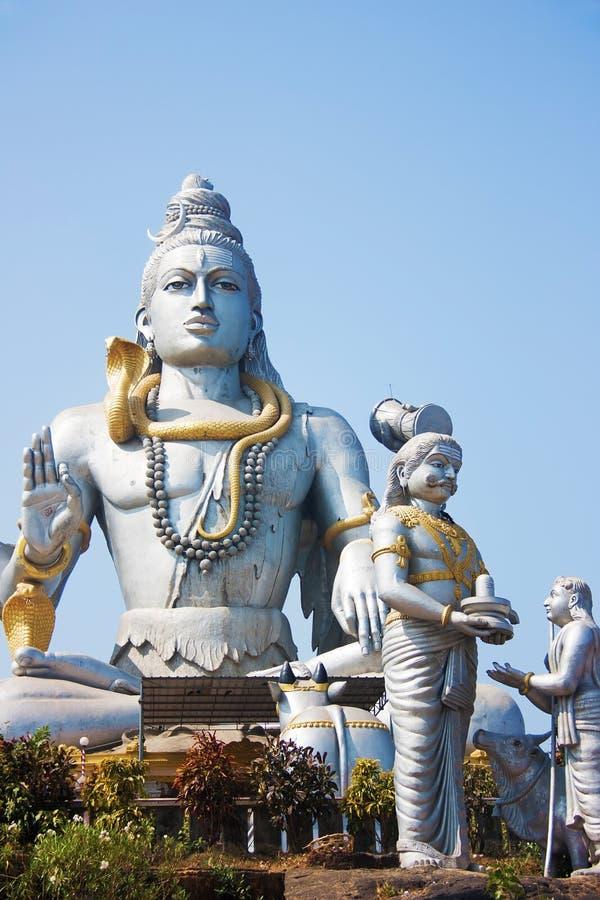 Lord Shiva Statue in Murudeshwar Karnataka, India stock afbeelding