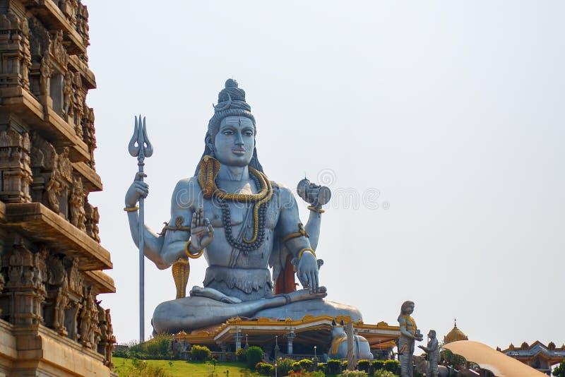 Lord Shiva Statue in Murudeshwar, Karnataka, Indien stockfotos