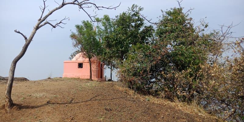 Lord Shiva temple gorakhagad fort stock photography