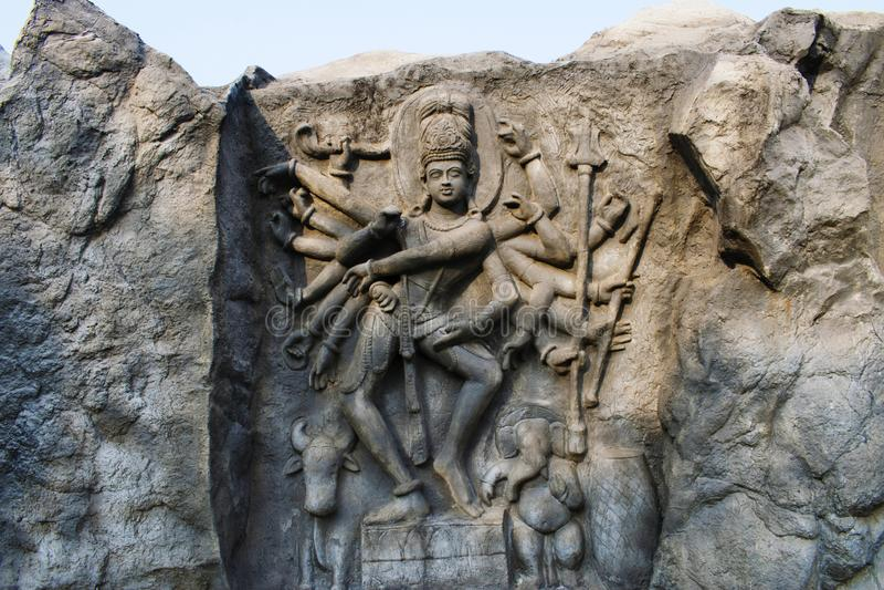 Lord Shiva, templo de Hadshi, Sant Darshan Museum cerca del tikona Vadgoan Maval, distrito Pune, maharashtra, la India imagenes de archivo