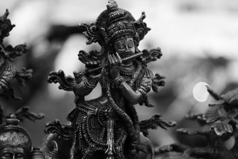Lord Shri Krishna con la flauta fotografía de archivo libre de regalías
