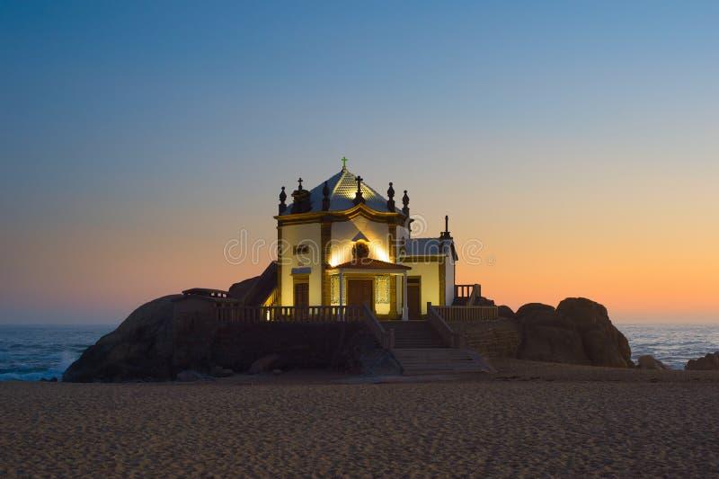Chapel Senhor da Pedra, Porto stock photos