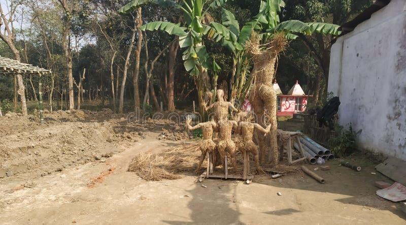 lord structure for ram janki yg op 100 - jarige viering in navkarhi madhubani bihar india royalty-vrije stock afbeeldingen
